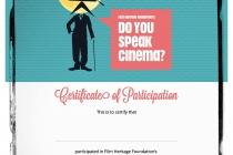 Do You Speak Cinema - Certificate