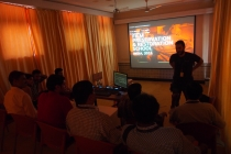 17 - Giandomenico Zeppa conducting the 'Color Correction' Practical Class