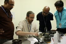 31 - Mr. Benjamin Tucker conducting the FILM REPAIR & HANDLING practical class