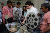 34 - Mr. Spencer Christiano at the FILM PROJECTION practical class