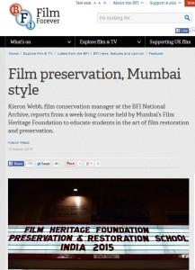 BFI NEWS – 13-03-2015