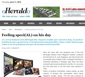 Herald – The Voice of Goa – 25-04-2015