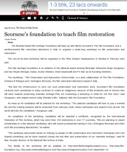 Scorsese foundation to teach film restoration