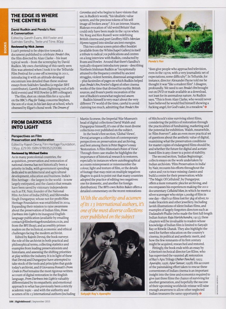 From Darkness Into Light - Reviewed by Michael Ewins in Sight & Sound - September 2015
