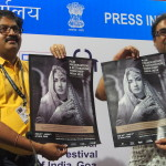 Photographs from the press conference at the International Film Festival of India, Goa