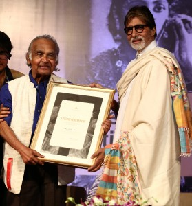 Shri P.K. Nair was presented FHF's Lifetime Achievement Award for Film Preservation & Archiving by Shri Amitabh Bachchan at the opening ceremony of the Film Preservation & Restoration School India 2015 in Mumbai on February 22nd, 2015.