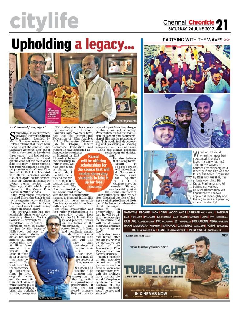 Deccan Chronicle - Chennai - 24-06-2017 - Page 21