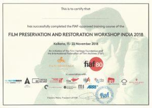 Film Preservation & Restoration Workshop India 2019 - Film