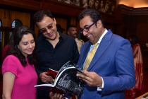 3) Anupama Chopra,Vidhu Vinod Chopra & Shivendra Singh Dungarpur after the book launch