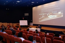 10 - Mr. Spencer Christiano conducting the FILM PROJECTION session