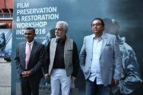 4 - Mr. Sudhanshu Vats, Mr. Naseeruddin Shah and Mr. Shivendra Singh Dungarpur at the FPRWI 2016 Opening Ceremony